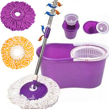 Hot!  Useful 360 Rotating Head Easy Magic Microfiber Spinning Floor Mop Bucket Head Store 243