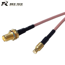 10pcs RP SMA Female to MCX Straight Male Plug RF Connector RG316 Pigtail Cable SMA to MCX Connector RF Cable Assembly(China)