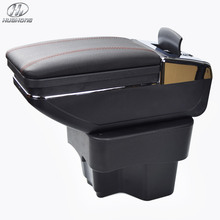 New Update 8th For KIA K2 RIO armrest box PU Leather central Store content box with cup holder products accessories 2012-2015