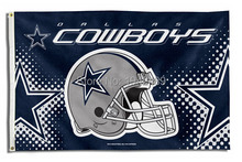 3ft x 5ft Dallas Cowboys flag helmet style  banner 100D Digital Printing flag with 2 Metal Grommets