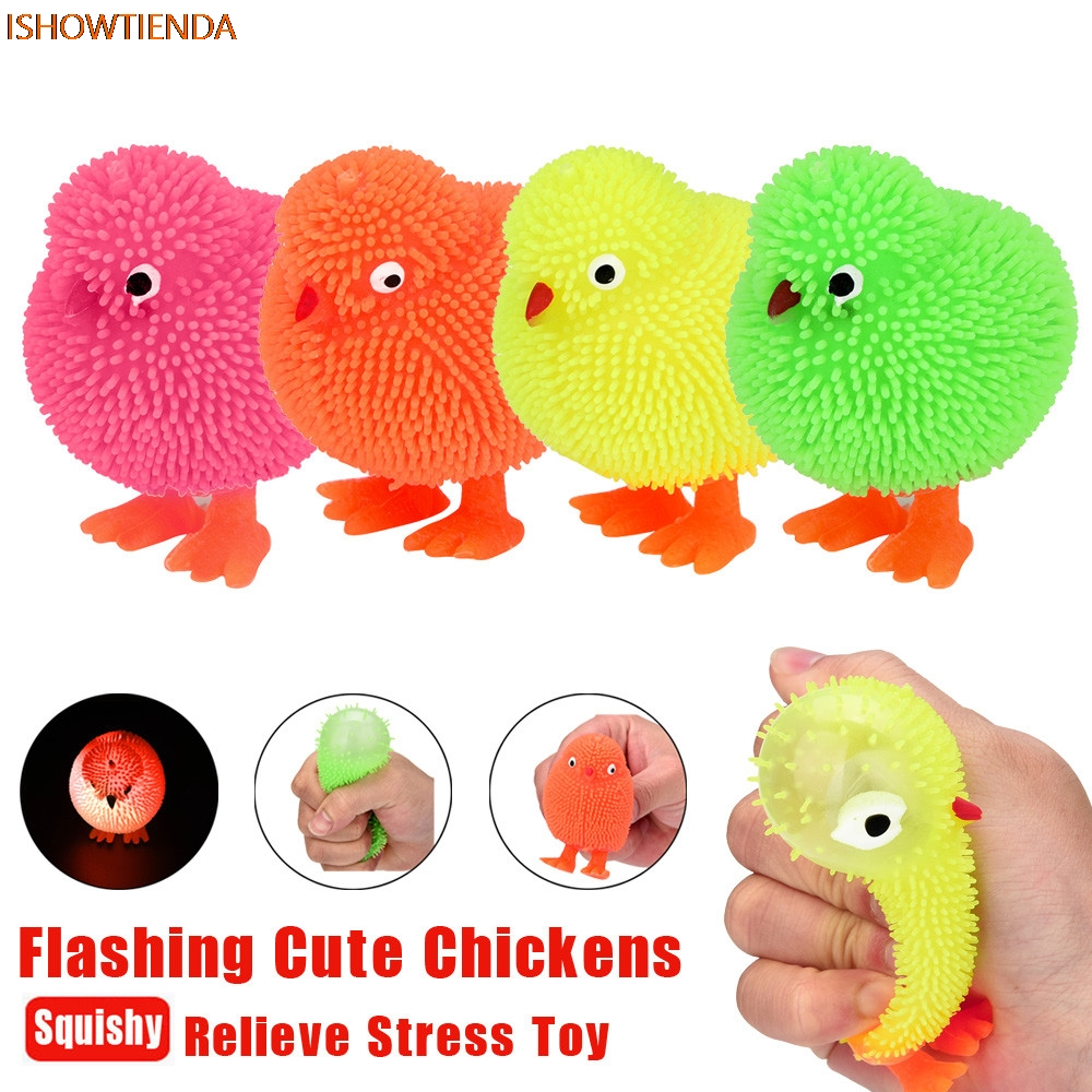 Squishy Stress Balls Squeeze Light Bulb Flashing LED Gel Beads Party Bag Filler