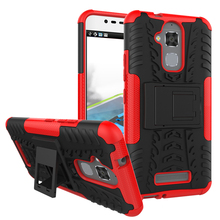 For Asus Zenfone 3 Max ZC520TL TPU & PC Dual Armor Capa with Stand Hard Silicone Cover For Asus Zenfone 3 Max ZC520TL Phone Case
