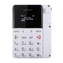 AIEK/QMART Q5 New Arrival Ultra Thin Card Mobile Phone 5.5mm Pocket Mini Phone Quad Band Low Radiation Bluetooth Dialer Phone