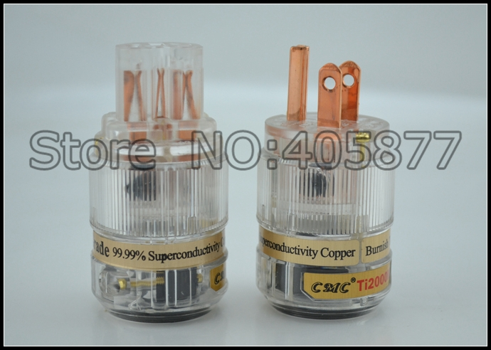 CMC Ti2000M Top Audio grade Red Copper US AC power plug +IEC female power plug<br><br>Aliexpress