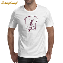 DongKing Fashion Unisex T-shirt ROCK BEAR Funny T shirt Spring Summer Tops For Female Clothing Hot Sale(China)