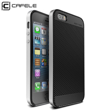 NEW CAFELE Original phone case For iPhone SE 5 5S Luxury Slim Armor shell For Apple Back Cover for iPhone 5s cases(China)