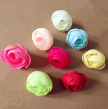 100pcs New Arrival Artificial Simulation Camellia Rose Flower Head Blossom Wedding Christmas Party 3.5cm Blue Pink Cream(China)