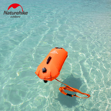 Naturehike Outdoor Double-balloon Waterproof Inflatable Snorkeling Swimming Bag Drifting Storage Bag Orange Pink about 600g