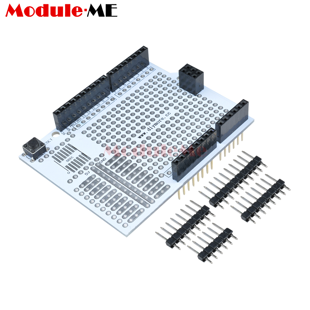 Promo Of Prototype Breadboard Pcb In Moaltprngo Fr4 Glass Fiber Circuit Boards Caring Development Bread Board Expansion Shield Protoshield Module For Arduino Uno R3 One Diy Kit 254mm
