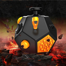 2017 The new anti anxiety stress Fidget cube 12 sides ,Fidget cube  toy dice, gifts for children Anti Stress Speelgoed