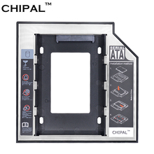 "CHIPAL Universal 2nd HDD Caddy 12.7mm 2.5"" SATA 3.0 SSD Case Hard Disk Drive Enclosure with LED Indicator for Laptop CD-ROM"