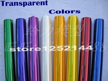 5Meters/Lot Tranparent Colors Hot Shrink Covering Film For RC Airplane Models DIY High Quality Factory Price Free Shipping(China)