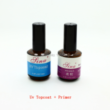 New 2pcs/lot Top Coat + Primer Base UV Gel Nail Art Polish Nail Manufacturers Primer base coat	 Wholesale FreeShipping