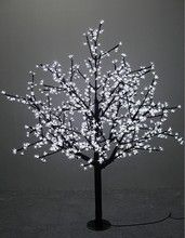 1.5m/5ft Height Outdoor waterproof Artificial Christmas Tree LED Cherry Blossom Tree Light 480pcs LEDs Straight Tree Trunk(China)