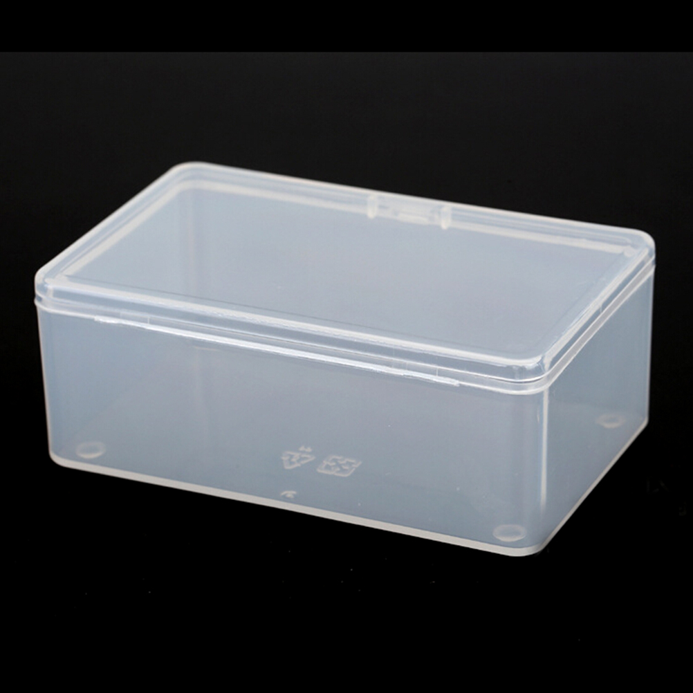 Store  Coin/ buttons Collection With Lid(10*6*3.6CM) Storage Box Container Case Small Clear Plastic Transparent