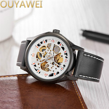 OUYAWEI 2017 new hot selling sports hollow high grade waterproof foreign trade supply men's mechanical watches(China)
