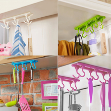 1Pcs Kitchen Cupboard Hanger Hook Ceiling Hanging Hooks Storage Rack Organizer With Traceless Adhesive Glue