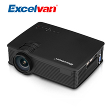 Excelvan GP9 Portable Mini Projector LCD Digital Proyector 800x480 2000 Lumen Home Cinema 3D Beamer With USB/SD Input Free HDMI(China)