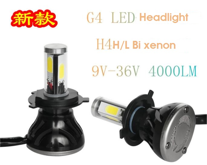 2pcs car LED headlight 12V 24V 4000LM 40w LED H4 H7 H8 H9 H10 H11 HB4 9006 HB3 9005 H13 9004 9007 Car light source<br><br>Aliexpress