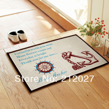 Free shipping Eco Friendly Coton Linen Anti Slip floor mat ,Anchor slip-resistant Door mat /carpet mats /rug mat 60X40CM