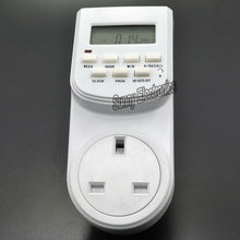 UK Plug 7-Day 24-hour Digital Timer Switch Time Controller Appliance with Clock LCD Display 220-240V