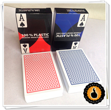 New High Quality Standard Bridge 100% Plastic Poker Playing Cards 2 pieces(China)