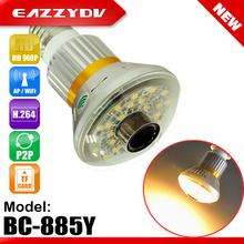 EAZZYDV BC-885Y Wifi Bulb IP P2P DVR Camera with 5W Yellow(WARM) LED Light Night Vision Wireless CCTV Video Surveillance Camera
