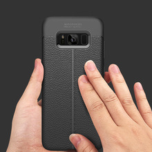 Soft TPU Carbon Fiber Cover for Samsung Galaxy S8 Case Leather Luxury Coque for Samsung Galaxy S8 Cover Case Silicone Shockproof(China)