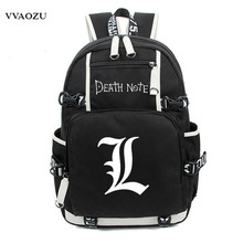 2017 New Anime Death Note Laptop Backpack Bags Large Oxford Luminous Printing Shoulder Bag Unisex Travel School Bag BookBag(China)