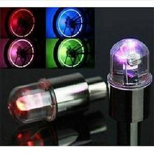 Colorful Bike Bicycle Car Wheel Tire Tyre Valve Cap Neon LED Flash Lights Lamp Novelty Bicycle Wheel Accessories(China)