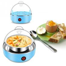 220V 50HZ Multifunctional Electric 7 Egg Boiler Cooker Mini Steamer Poacher Kitchen Cooking Tool US Plug 350W Light Blue