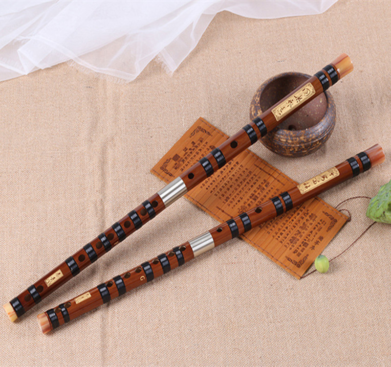 Bamboo Flute Professional Transversal flauta Musicais Instrumentos C D E F G Key Double plug Flaut Chinese Dizi nay flauto huilu<br>