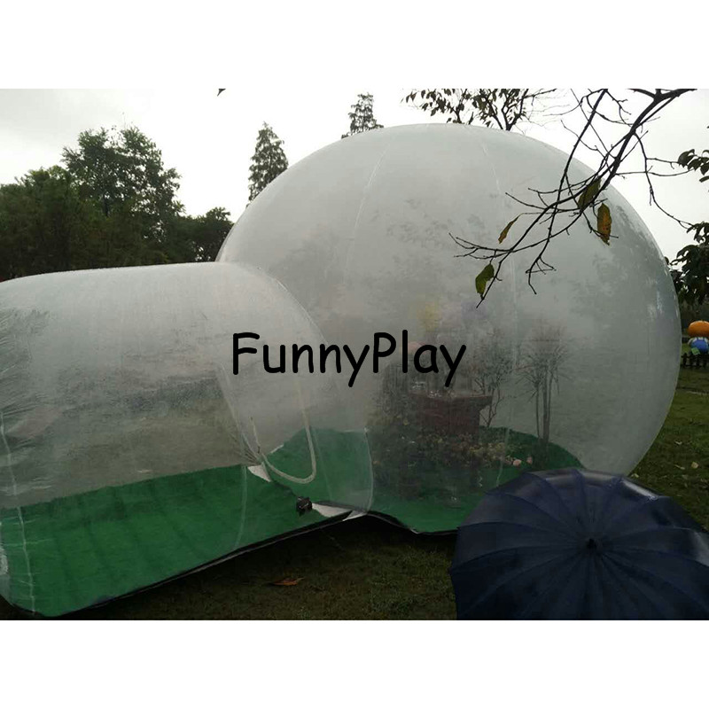 single tunnel inflatable bubble camping tent4