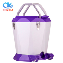 KOYIDA Rolling Magic Spin Mop Bucket Set Hand Pressure Rotating Floor Mop Double-Drive Stainless Household Floor Cleaning Tools(China)