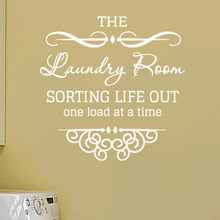 Sorting Life Out One Load At A Time Laundry Room Wall Sticker Home Decor Removable Wall Decals Art Murals Bathroom Decoration