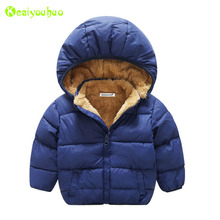 KEAIYOUHUO Infant Girls Coats 2017 Winter Baby Girls Jackets For Boys Jackets Kids Warm Hooded Outerwear Coats Children Clothes(China)