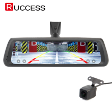 "Ruccess 10"" Full Touch IPS Car DVR Rearview Mirror Android 4G GPS Bluetooth Navigation Dash Camera Wifi Full HD Dual Lens(China)"