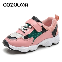 COZULMA Children Causal Sneakers Kids Sport Shoes Boys Girls Mesh Sports Sneakers Girls Autumn Elegant Lace-UP Running Shoes(China)