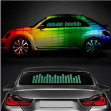 LED sound activated electric light emitting film car music stickers equalizer lighting flash panel multi color flash of the car
