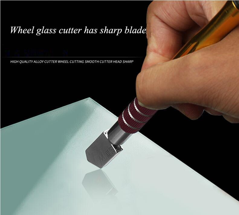 MaquiGra Cortador de Vidrios Circular Profesional con Alta precisi/ón de Corte y Control Autom/ático de Aceite M/áquina de Corte de Vidrio Grueso Cuchillo de Empuje de Azulejo Ajustable