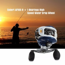 Exbert 8 + 1 Ball Bearings 6.3:1 Fishing Reel Left/Right Hand Bait Fishing Casting Reel Carp High Speed Baitcasting(China)
