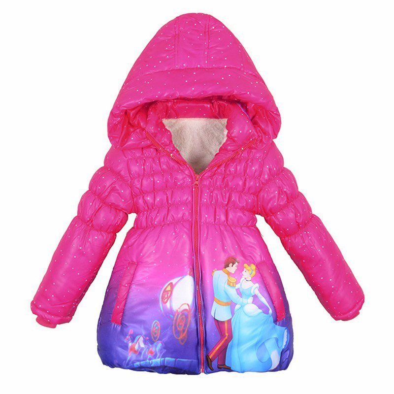 Girls Winter Down Coat Hoodie Jackets Cinderella Snowsuit  Kids Outwears  Kids Fur Princess Children Girl Clothes Christmas ParkОдежда и ак�е��уары<br><br><br>Aliexpress