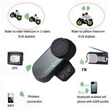 3pcs/Lot FM Raido BT Motorcycle Helmet Bluetooth Intercom Headset Ski Helmets Talkie Kits TOM-VB(China)