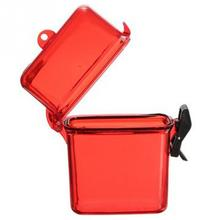 New Portable Camping Key Money Phone Storage Box Case Holder Outdoor Waterproof Plastic Container Case for mobile phone Randomly(China)