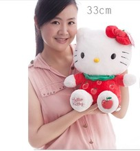 NEW STuffed animal fruit red apple kt hello kitty 33cm plush toy 12 inch soft Toy birthday gift wt38(China)