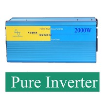 DC AC inverter 2000W pure sine wave inverter peak power 2000W 12V 220V or 12V 110V(China)