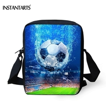 INSTANTARTS Cool 3D Ball Soccerly Print Men Mini Handbags Fashion High Quality Travel Crossbody Bags Famous Brand Messenger Bag(China)