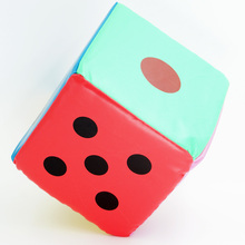 Dice Funny Sponge Materials Multi-Color Cute Party Big Giant Faux Leather Six Sided Game Toy Club Playing Funny 075-294 C
