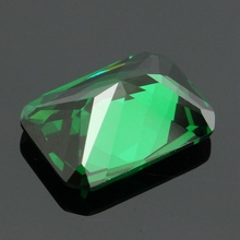 Overvalue 9.08CT Unheated Dazzling Artificial Green Sapphire 10X14MM Diamond Emerald Loose Gemstone DIY Jewelry Pendant Crafts(China)