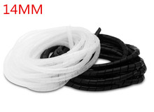 14mm 6m/rollHose protection wire case hose pipe cable finishing line with fixed bundle of wire Transparent Protection Wire Wind(China)